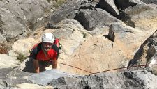 Alpine climbing routes in Nauders
